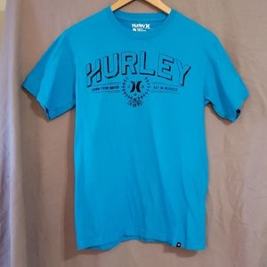 2/$20 Hurley Classic Fit blue graphic t-shirt